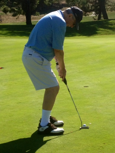 Mr. Hughes Takes Dead Aim with PalmBird Putter Grip...and Cans the Putt!
