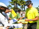 epa04194064 Bubba Watson of the US signs autographs for fans following his practice round for THE PLAYERS Championship on the Stadium Course at TPC Sawgrass in Ponte Verde Beach, Florida, USA, 06 May 2014. Championship play starts 08 May.  EPA/TANNEN MAURY
