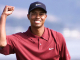 PEBBLE BEACH, CA - JUNE 18:  Tiger Woods clinches his fist after winning the US Open at Pebble Beach, California 18 June 2000. Woods won with a score 12-under-par. (ELECTRONIC IMAGE) AFP PHOTO MIKE FIALA  (Photo credit should read MIKE FIALA/AFP/Getty Images)