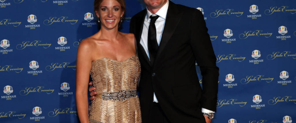 ROSEMONT, IL - SEPTEMBER 26:  Keegan Bradley of the USA and his partner Jillian Stacey attend the 39th Ryder Cup Gala at Akoo Theatre at Rosemont on September 26, 2012 in Rosemont, Illinois.  (Photo by Andrew Redington/Getty Images)